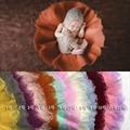 Rodada Diâmetro 60 cm Tapete Adereços Cobertores De Lã Feltrada Camada Da Foto Adereços Cobertor Do Bebê Fotografia Prop Newborn Ninho Cesta Stuffer