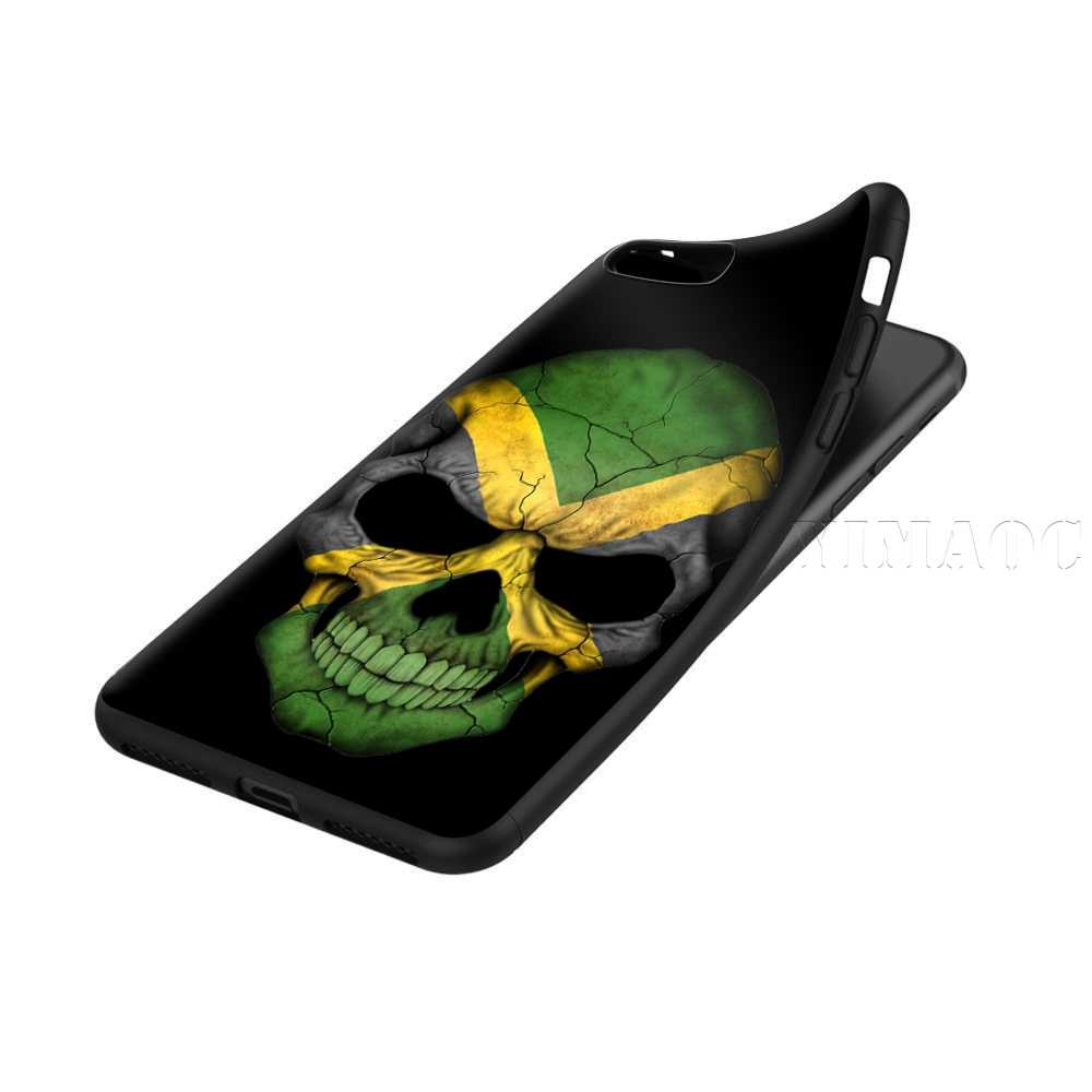 YIMAOC Jamaica Jamaican Flag Silicone Soft Case for iPhone XS Max XR X 8 7  6 6S Plus 5 5S SE
