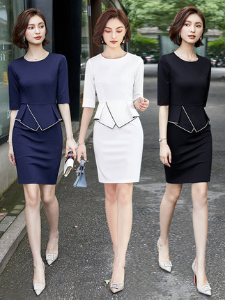 Professional Suit Woman 2019 Spring And Summer New Fashion Small Fragrance Beautician Beauty Salon Work Clothes Dress Workwear