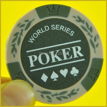 PN-8001M World Poker bez wartości nominalnej 50 sztuk partia glina 14g każda darmowa wysyłka tanie i dobre opinie Gliny