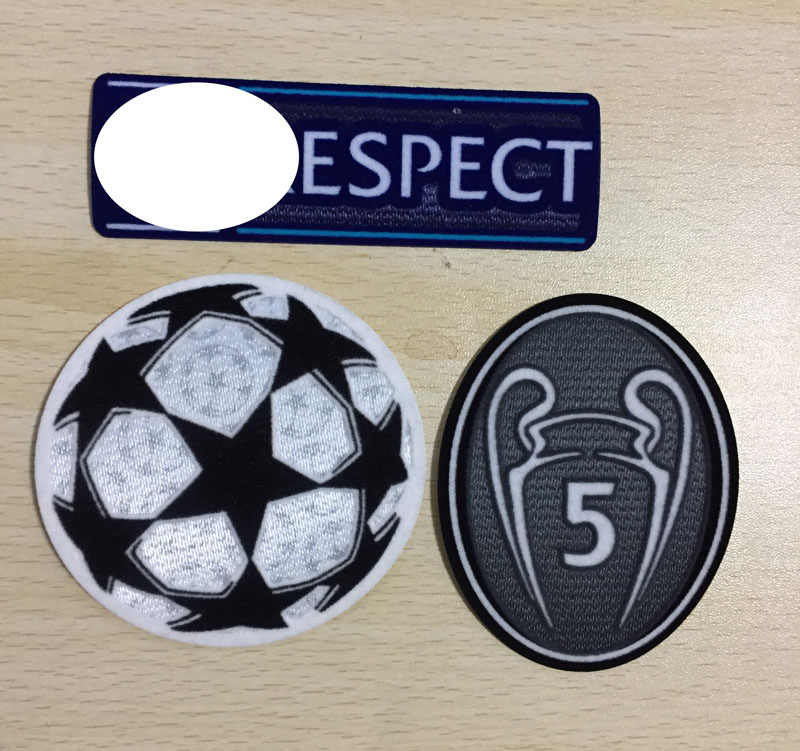 2019 Final Champions Patch En Respect Starball Badge En 5 Tijd Cup Warmteoverdracht Patch Voor M. salah Manen Final Game