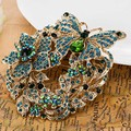 Big Size Butterfly Brooches Collares Rhinestone Crystal Brooch Pin Fashion Women Party Broches Bijuteriras Hat Accessories Broch