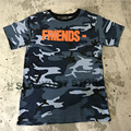 High Quality VLONE Hiphop Camouflage Tee Mens 2017 Text Pattern Kanye West Short Sleeve Military Camo Tops