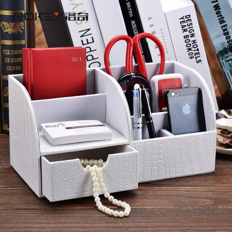 Rocky white crocodile desk office desktop storage box storage creative modern multi functional stationery