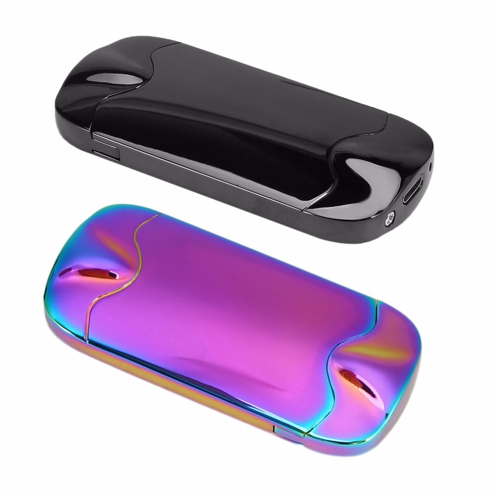 2018 Gravity Sensor Shake Design Double Side Windproof USB Rechargeable Electronic Lighter Flameless Electric Smoking Lighter