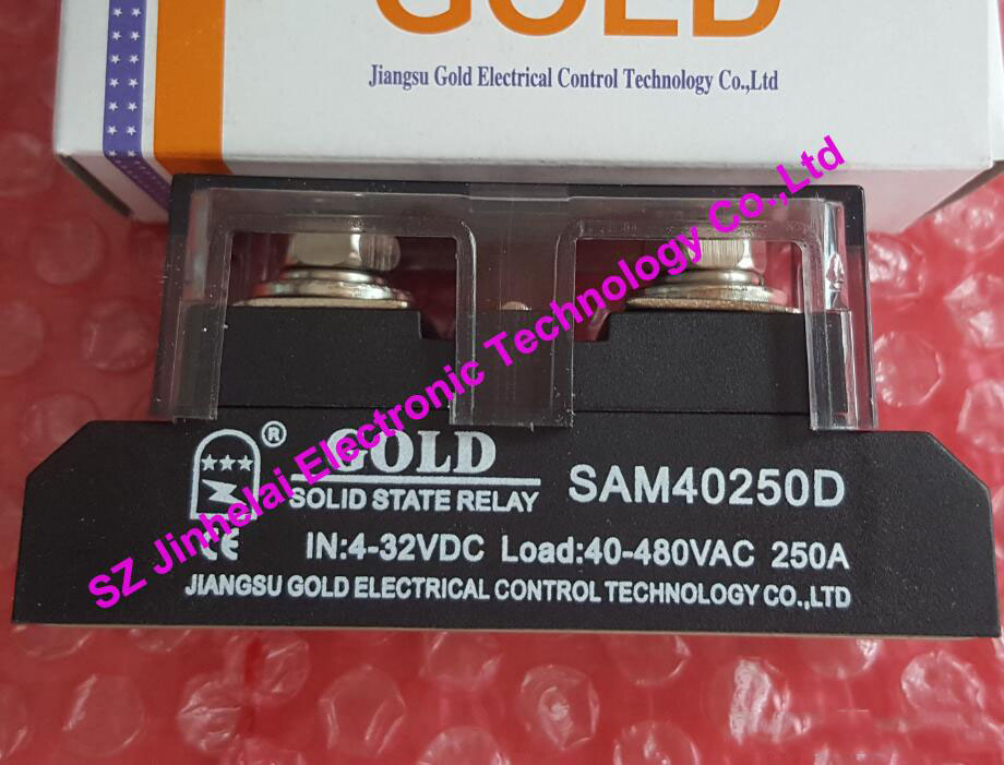 New and original SAM40250D GOLD Single-phase industrial solid state relay SSR RELAY 4-32VDC, 48-530VAC 250A new and original sa34080d sa3 4080d gold solid state relay ssr 480vac 80a