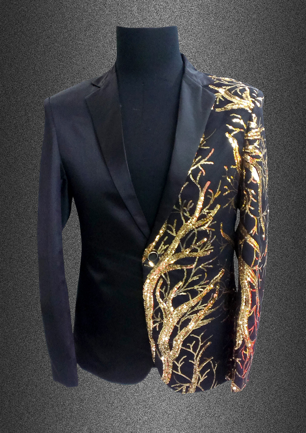 singer blazer Male formal dress costume men's clothing paillette suits clothes for dancer star performance nightclub party bar 2