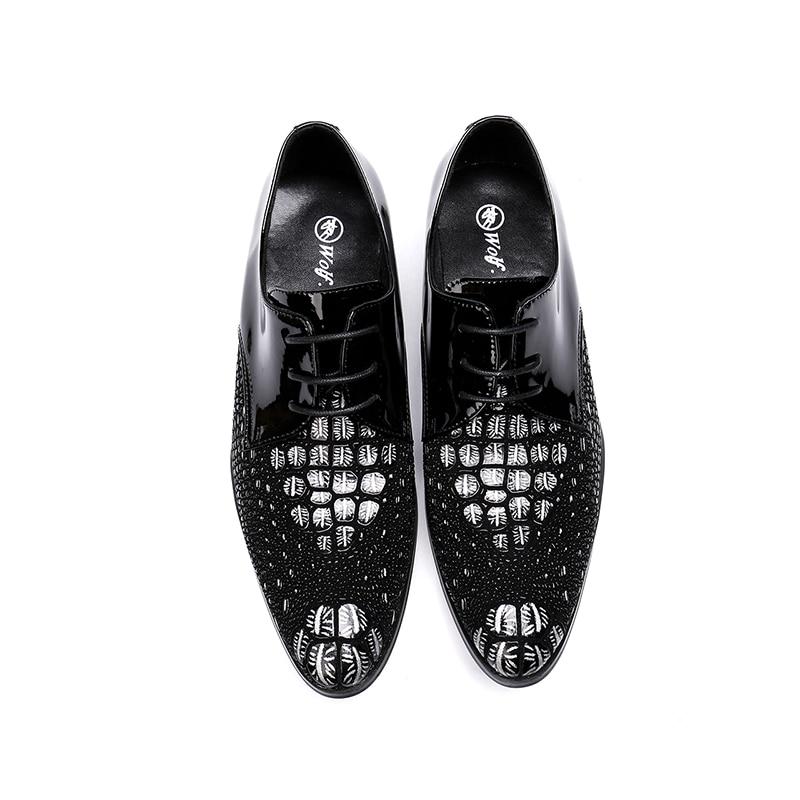 Legal Show Negócios Cavalheiro Rendas Calcanhar Nova Apontado Até as Homens Robusto Do Designers Show Dedo 2018 Moda Zapatos Calçados Crocodilo As Pé Couro De Sapatos 6q8nB