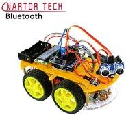 Салона автомобиля Робот Smart Bluetooth Car отслеживания избегать препятствий 1602 ЖК дисплей Atmega 328P линии отслеживания графического программирован