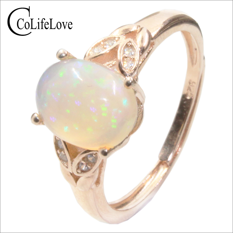 CoLife Jewelry Classic Opal Ring for Anniversary Day 1ct Natural Australia Opal Silver Ring Solid 925 Silver Opal JewelryCoLife Jewelry Classic Opal Ring for Anniversary Day 1ct Natural Australia Opal Silver Ring Solid 925 Silver Opal Jewelry