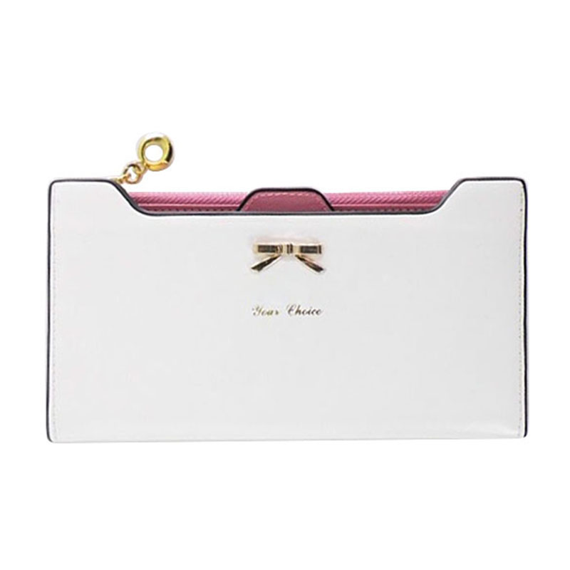 Lovely Knot Women Wallet Long Purse PU Leather Cards Holder Clutch Bag Fashion Female Phone Pocket Purse Wallet Carteira pu leather wallet heels wallet phone package purse female clutches coin purse cards holder bag for women 2415