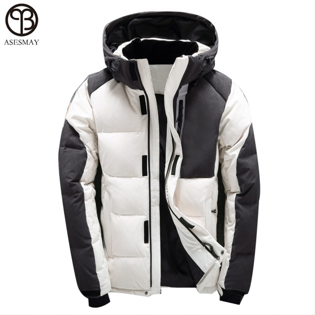 4035ca7e05c Asesmay Men Winter Jacket White Duck Down Parka High Quality Winter Coats  Hooded Goose Feather Men s Down Jacket Thick Snow Coat