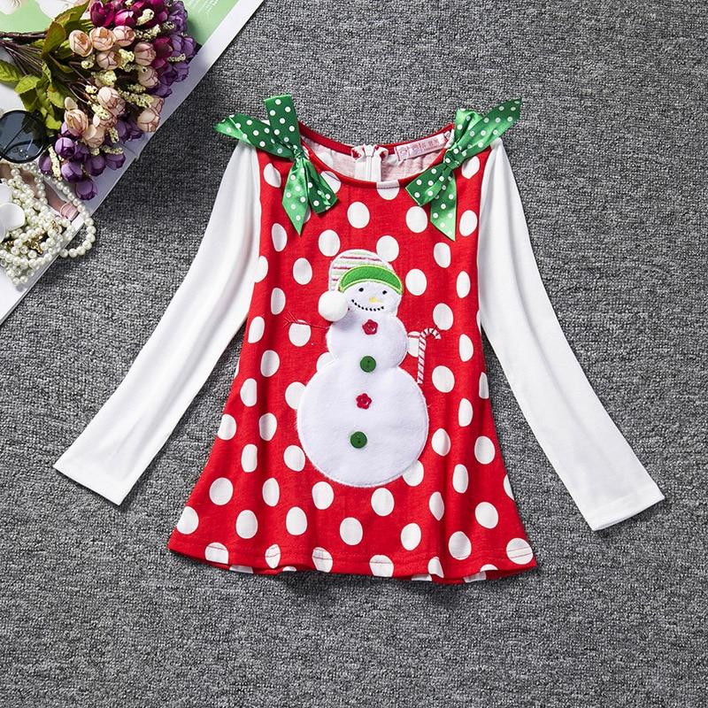 RED baby Christmas Dress for Girl Children New Year Festival Santa Costume Kids Party Dresses for Girl Toddler Clothes