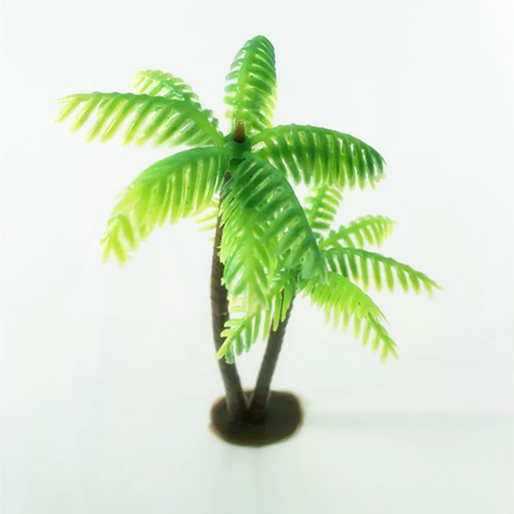 Artificial mini coconut tree fish tank landscaping water grass Artificial plant photo props home DIY Christmas decoration