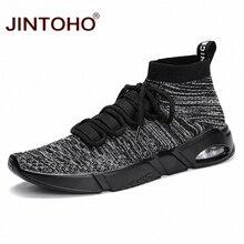 Бренд JINTOHO, мужская спортивная обувь, легкая прогулочная обувь, дизайнерские кроссовки для мужчин, большие размеры, мужские кроссовки для бега, мужские кроссовки