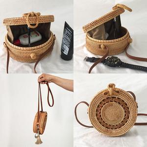 Image 5 - Bolsa de almacenamiento de ratán hecha a mano estilo bohemio Retro hogar tejido bolsa Hollow Twist patrón moda mujer bolsa 2019