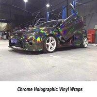 Черный хром голографические виниловые Wrap растяжения не обесклеивание заводская цена 1.52*20 м полный кузов автомобиля