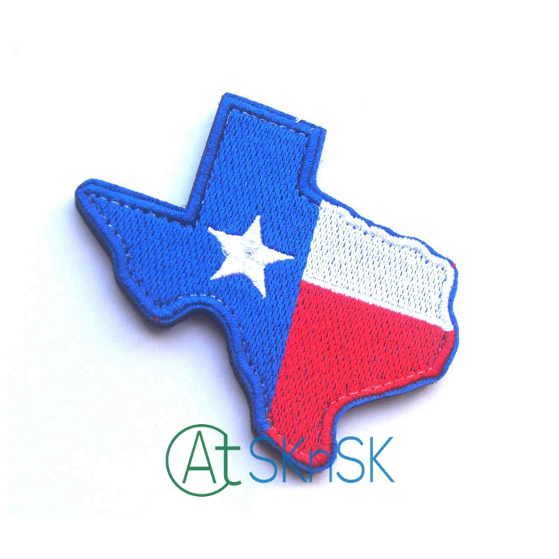 1pcs/pcs United States Texas Map Shape Stickable Military Patch Sew on Patch DIY Applique Six Colors for Choice