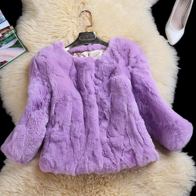 Giacche Chart Nuovo Vestiti 4 Sleeve E Rabbit Fur Slim Femminili Real 3 Capelli see Rex Stile Coniglio Chart See Donne Cappotto Pelliccia Breve Di Cappotti In Arrivo Pelle qLc345ARj