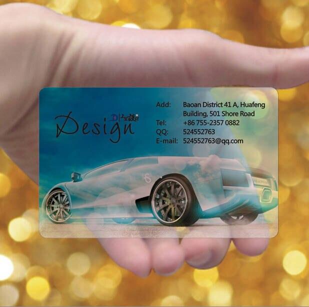 Freies Design Transparent Pvc Kunststoff Visitenkarten Druck