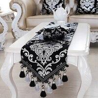 Luxus Europa Runner versilberung Perle quasten Schönheit Tisch Bett Haus Zimmer Dezember runner Mat mat großhandel FG331
