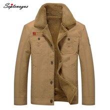 2017 Men's Fashion Winter Fur Collar Cotton Jackets Thick Fleece Turn-down Jacket Warm Outwear Male Casual Winter Coat 4XL 5XL
