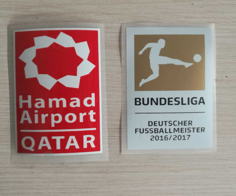 17/18 BUNDESLIGA KAMPIOEN PATCH + SPONSOR BUNDESLIGA 16 17 kampioen patch DEUTSCHER FUSSBALLMEISTER + links patch