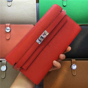 Women Wallet Bag Casual Genuine Leather Ladies Wallet Female Fashion Wallet Small Long Cluth Girls Coin Purse Carteira Feminina - DISCOUNT ITEM  35% OFF All Category
