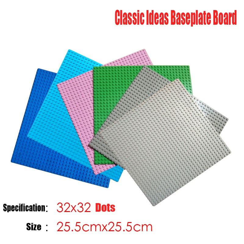 12 видов цветов классический творческий пластиковые базы основа кирпича совместим с другими основными бренда Building Block Строительство игрушк...