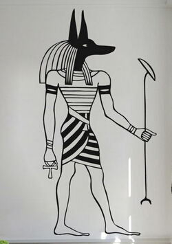 Country Living Room Decor Images Brown Couches New Arrival Egypt Vinyl Wall Decal Egyptian God Anubis ...