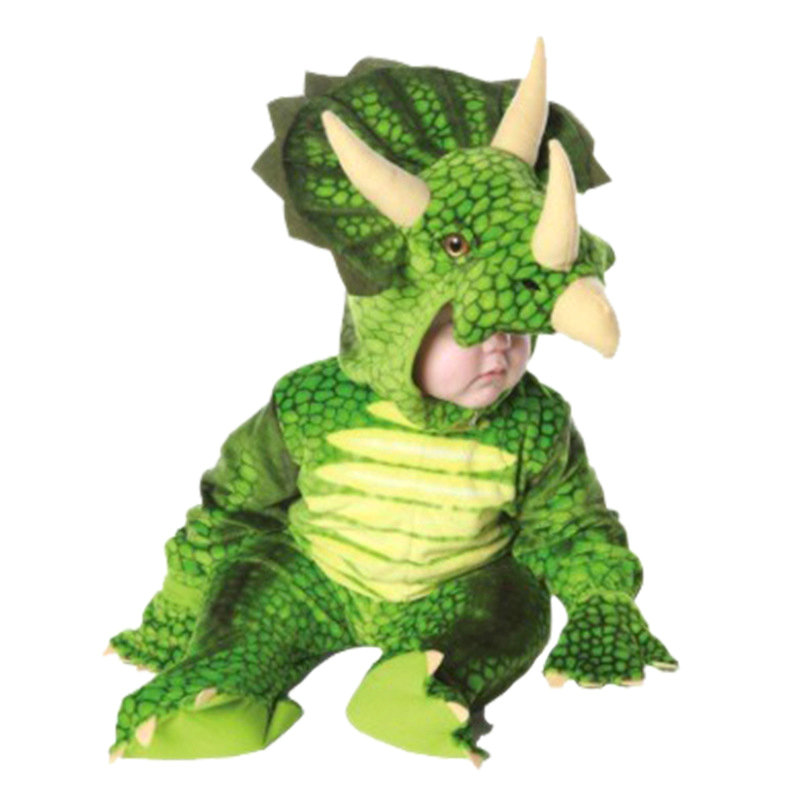 Triceratops Costume Boys Kids Little T-Rex Costume Cosplay Dinosaur Jumpsuit Christmas Cosplay Christmas costumes for children
