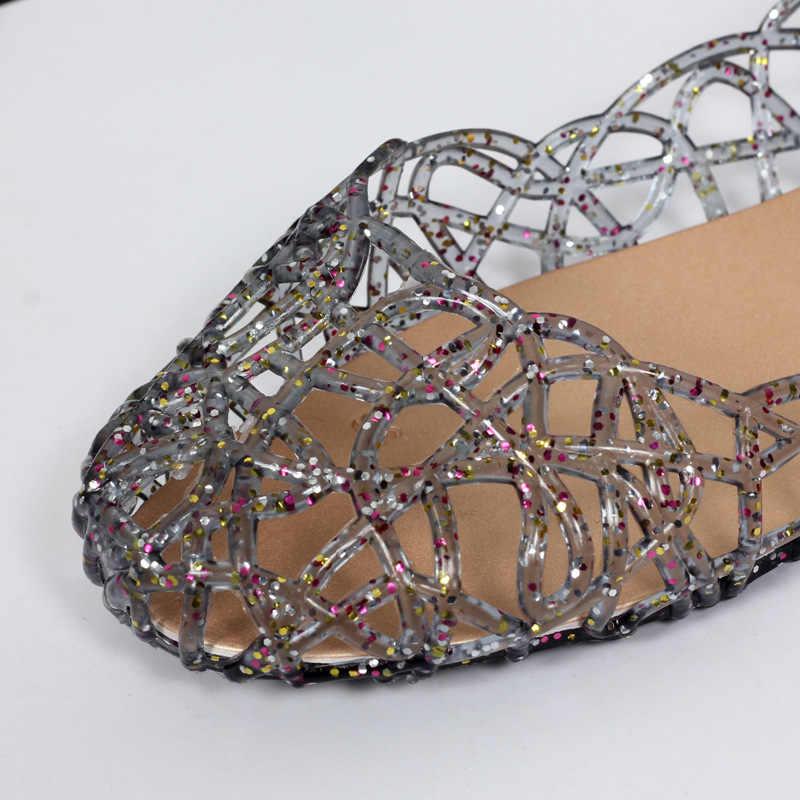 נשים סנדלי אור נשים נעלי ג 'לי נעלי קיץ שטוח סנדלי חוף נעלי אישה Sandalie 2019 Tenis Feminino נקבה הנעלה
