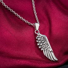 WAWFROK 2017 Stainless steel Women's Feather Necklace Pendant