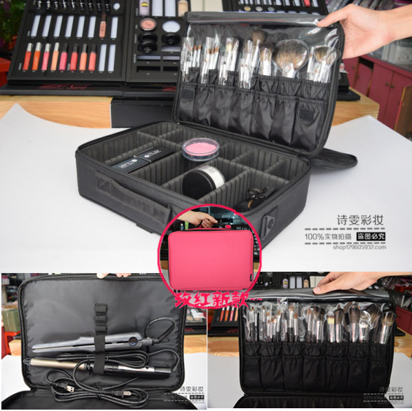 factory price tattoo tool portable large capacity nail multi layer portable cosmetic bag large capacity with makeup bag,NICE