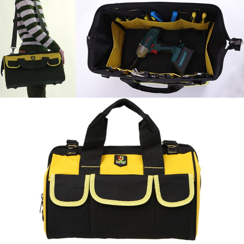 Multifunctional Portable Electrical Repairing Tool Kit Large Capacity Oxford Cloth Bag Shoulder Case For Plumber Electrician