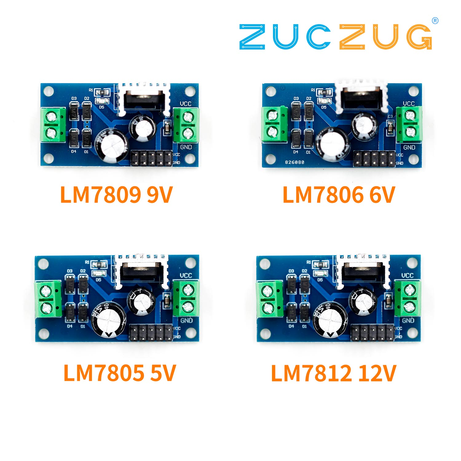 LM7805 LM7806 LM7809 LM7812 DC/AC Three Terminal Voltage Regulator Power Supply Module 5V 6V 9V 12V Output Max 1.2A