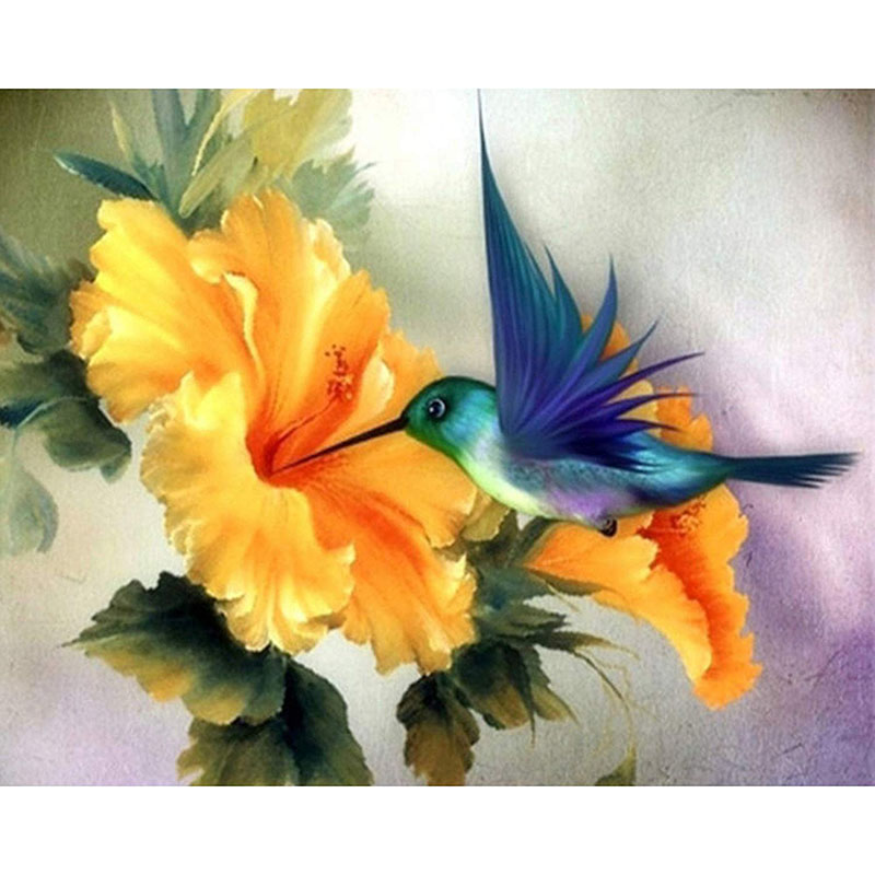 Painting By Numbers DIY Dropshipping 40x50 50x65cm Bird Picking Honey Bluebird Animal Canvas Wedding Decoration Art Picture Gift