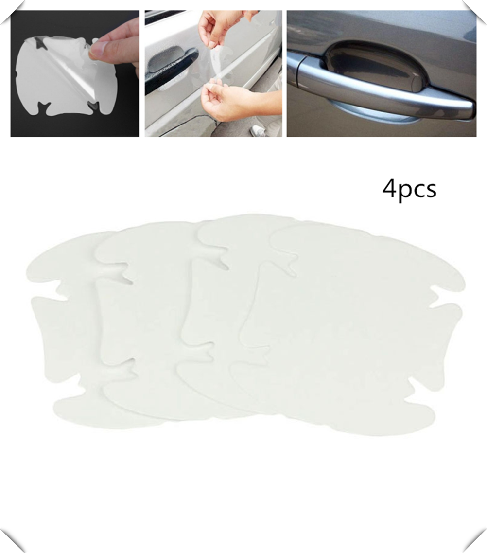 Car shape door handle protective film handle transparent stickers for Renault Megane Kadjar EZ-GO Captur Arkana Zoe