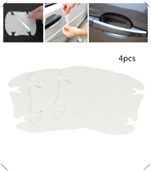 Car shape door handle protective film handle transparent stickers for Renault Megane Kadjar EZ-GO Captur Arkana Zoe image