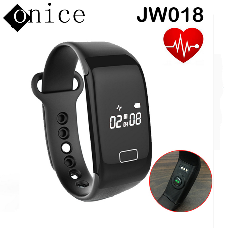 Newest waterproof font b SmartWatch b font JW018 Heart Rate Wristband Bluetooth4 0 Fashion smartBand Monitor