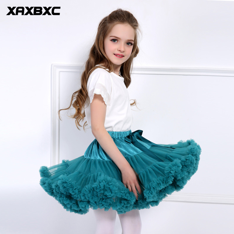 2018 NEW Baby Girls TuTu Skirt Lace Party Dance Pettiskirt Child Ballet Skirts Tulle Miniskirt Princess Kids Stage Costumes PP 3