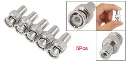 5 Pcs BNC Male Plug to RCA Female RF Coaxial Connector for CCTV Video Gift