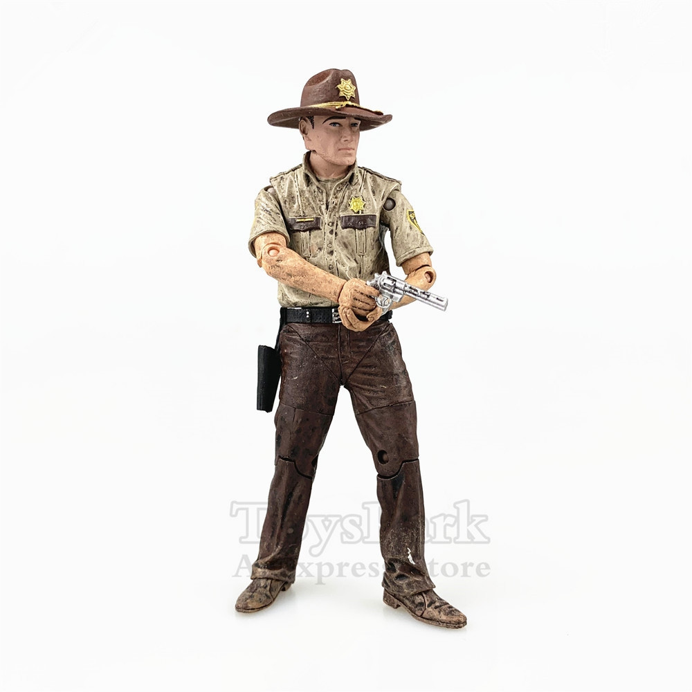 "2019 NEW  The Walking Dead Rick Grimes 7"" Collectible Action Figure"