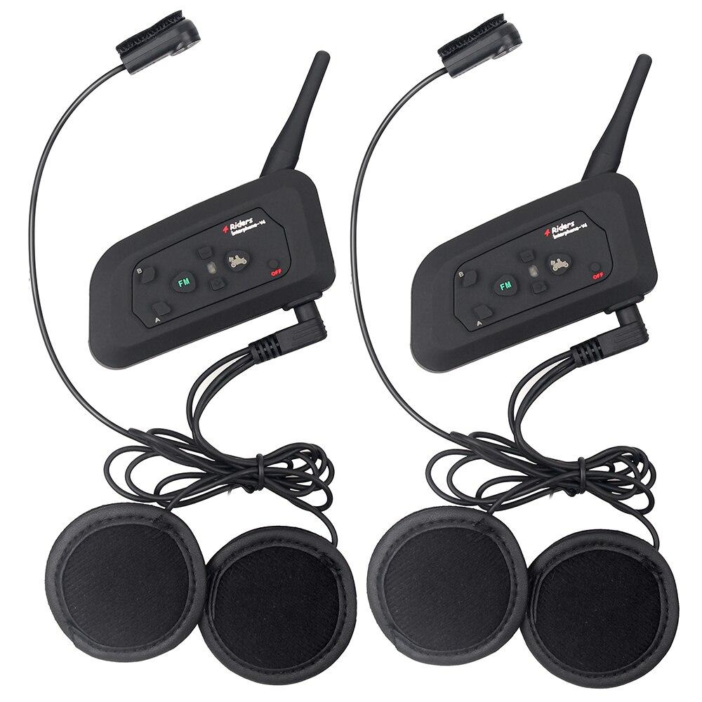 2 հատ Fodsports V4 Motorcycle սաղավարտ Bluetooth Bluetooth - Պարագաներ եւ պահեստամասերի համար մոտոցիկլետների - Լուսանկար 4