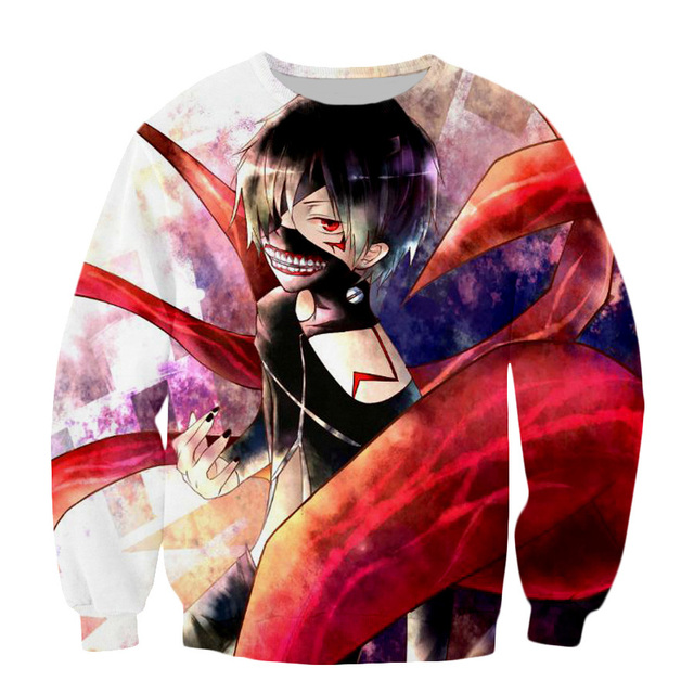Tokyo Ghoul Harajuku Sweatshirts Men Women Hipster 3D Hoodie