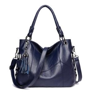 Image 5 - Moda 2018, Bolsos De Mujer con borla, bolso de hombro de diseñador, bolsos de piel sintética de alta calidad, bolso de mano con cadena para mujer, bolso de mano