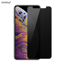 OriWood Privacy Tempered Glass For Apple iPhone XS Max XS XR X 2.5D Anti Spy Black Screen Protector Protective Film For XS Max