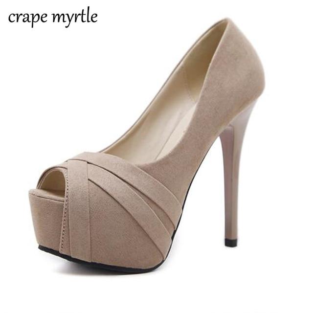 a6b5f691ba92 platform heels shoes woman pumps bridal shoes nude pumps dress shoes high  heels peep toe pumps Spring shoes zapatos muje YMA117