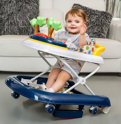 Andadores de giro lateral U aprender conducir plegable de múltiples funciones de los niños con música