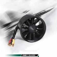 FMS 50 мм 12 лопастей воздуховод вентилятор EDF с 2627 4S 4500KV 3S 5400KV бесщеточный двигатель для RC Самолет воздуховод вентилятор самолет